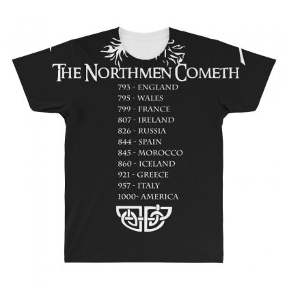 Viking World Tour Funny All Over Men's T-shirt Designed By Nugraha