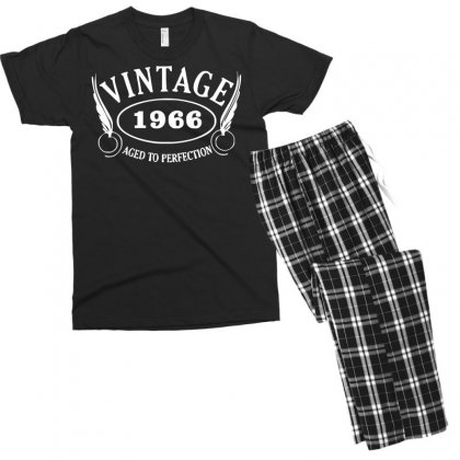 Vintage Aged To Perfection Men's T-shirt Pajama Set Designed By Nugraha