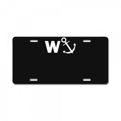 W Anchor Funny Pub Joke License Plate Designed By Nugraha