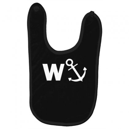 W Anchor Funny Pub Joke Baby Bibs Designed By Nugraha