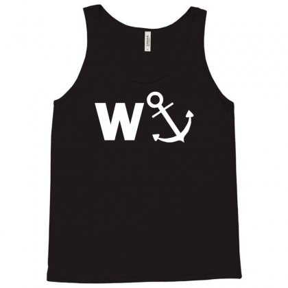 W Anchor Funny Pub Joke Tank Top Designed By Nugraha