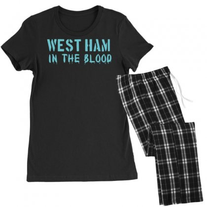 West Ham In The Blood Retro Style New Women's Pajamas Set Designed By Nugraha