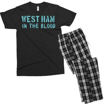 West Ham In The Blood Retro Style New Men's T-shirt Pajama Set Designed By Nugraha