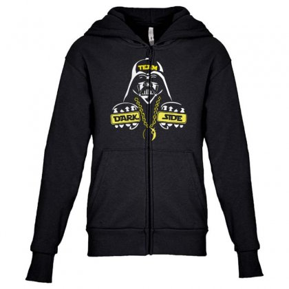 Dark Side  At Loiter Youth Zipper Hoodie Designed By Nugraha