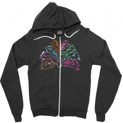 Evolution Of Elements Zipper Hoodie Designed By Nugraha