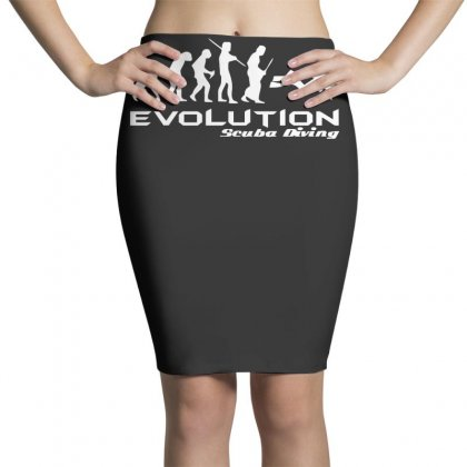 Evolution Of Scuba Divingfunny Swim Retro Sea Cool Boat Party Pencil Skirts Designed By Nugraha