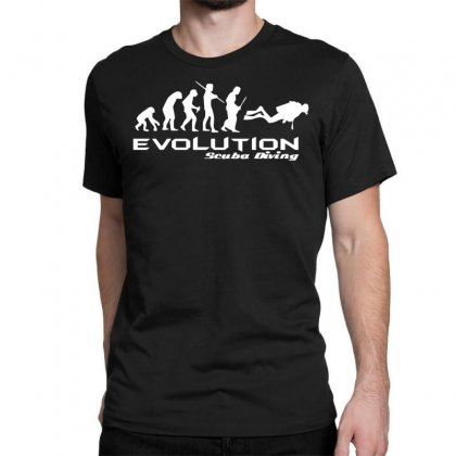 Evolution Of Scuba Divingfunny Swim Retro Sea Cool Boat Party Classic T-shirt Designed By Nugraha