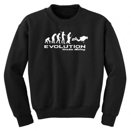 Evolution Of Scuba Divingfunny Swim Retro Sea Cool Boat Party Youth Sweatshirt Designed By Nugraha
