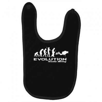 Evolution Of Scuba Divingfunny Swim Retro Sea Cool Boat Party Baby Bibs Designed By Nugraha