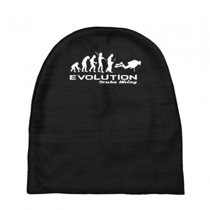 Evolution Of Scuba Divingfunny Swim Retro Sea Cool Boat Party Baby Beanies Designed By Nugraha