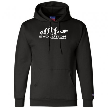 Evolution Of Scuba Divingfunny Swim Retro Sea Cool Boat Party Champion Hoodie Designed By Nugraha