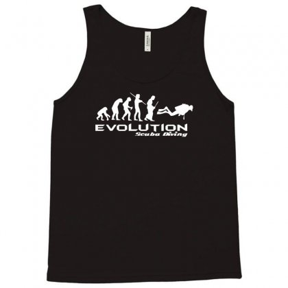 Evolution Of Scuba Divingfunny Swim Retro Sea Cool Boat Party Tank Top Designed By Nugraha