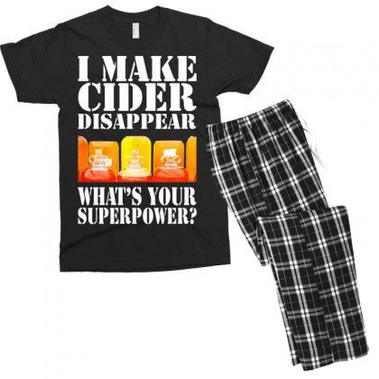 Funny I Make Cider Disappear, Ideal Gift Or Birthday Present. Men's T-shirt Pajama Set Designed By Nugraha