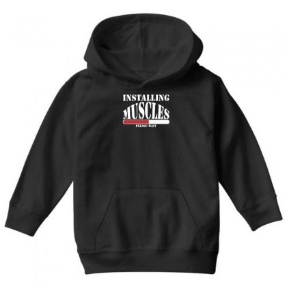 Funny Installing Muscles, Ideal Gift, Birthday Present Youth Hoodie Designed By Nugraha