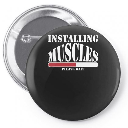 Funny Installing Muscles, Ideal Gift, Birthday Present Pin-back Button Designed By Nugraha