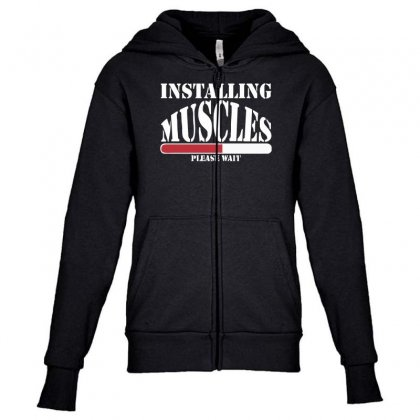 Funny Installing Muscles, Ideal Gift, Birthday Present Youth Zipper Hoodie Designed By Nugraha