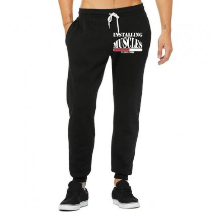 Funny Installing Muscles, Ideal Gift, Birthday Present Unisex Jogger Designed By Nugraha