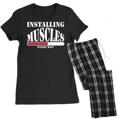Funny Installing Muscles, Ideal Gift, Birthday Present Women's Pajamas Set Designed By Nugraha