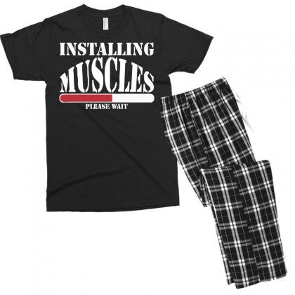 Funny Installing Muscles, Ideal Gift, Birthday Present Men's T-shirt Pajama Set Designed By Nugraha