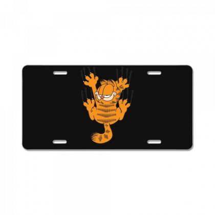 Garfield Scratching, Ideal Gift Or Birthday Present Funny License Plate Designed By Nugraha
