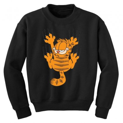 Garfield Scratching, Ideal Gift Or Birthday Present Funny Youth Sweatshirt Designed By Nugraha