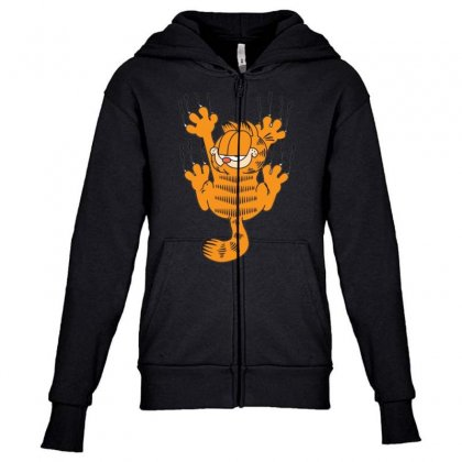 Garfield Scratching, Ideal Gift Or Birthday Present Funny Youth Zipper Hoodie Designed By Nugraha