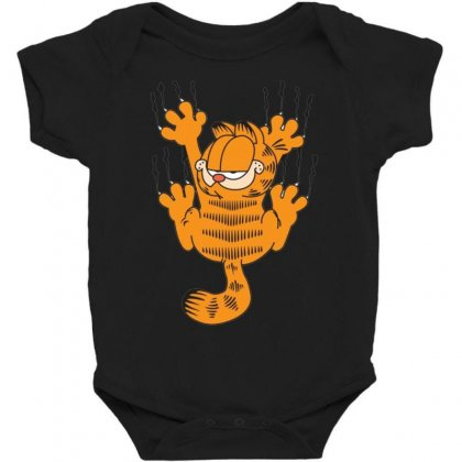 Garfield Scratching, Ideal Gift Or Birthday Present Funny Baby Bodysuit Designed By Nugraha