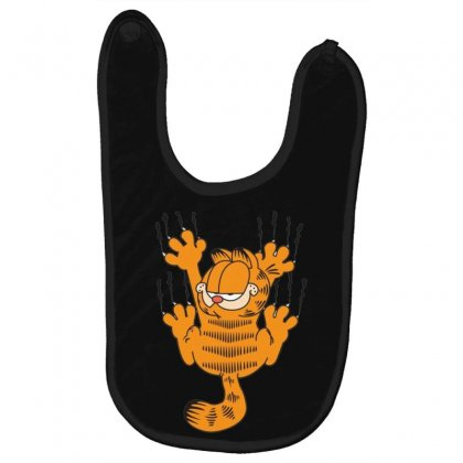 Garfield Scratching, Ideal Gift Or Birthday Present Funny Baby Bibs Designed By Nugraha