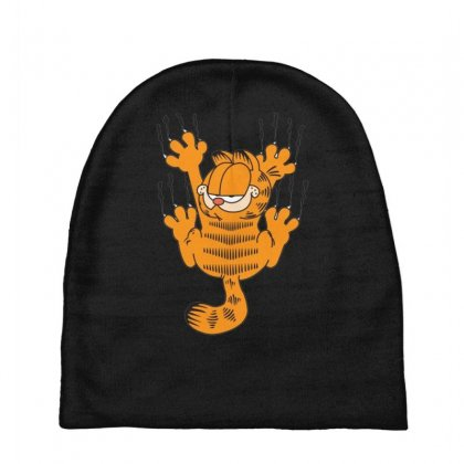 Garfield Scratching, Ideal Gift Or Birthday Present Funny Baby Beanies Designed By Nugraha