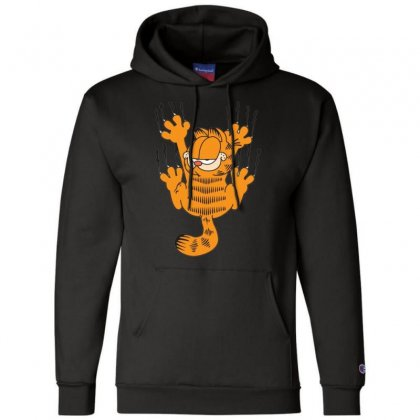 Garfield Scratching, Ideal Gift Or Birthday Present Funny Champion Hoodie Designed By Nugraha