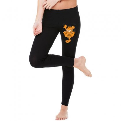 Garfield Scratching, Ideal Gift Or Birthday Present Funny Legging Designed By Nugraha
