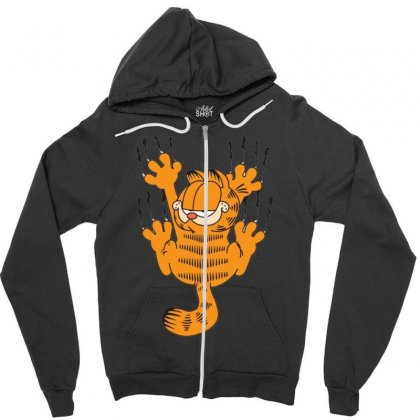 Garfield Scratching, Ideal Gift Or Birthday Present Funny Zipper Hoodie Designed By Nugraha