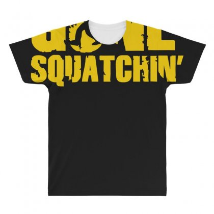 Gone Squatchin All Over Men's T-shirt Designed By Nugraha