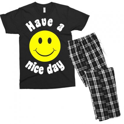 Have A Nice Day Men's T-shirt Pajama Set Designed By Nugraha