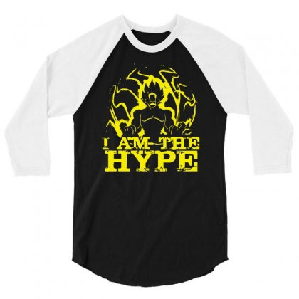 I Am The Hype 3/4 Sleeve Shirt Designed By Nugraha