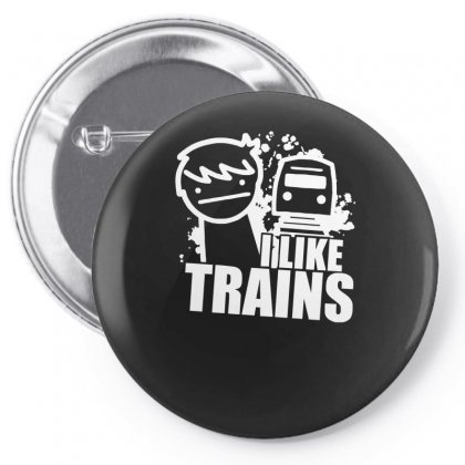 I Like Trains Pin-back Button Designed By Nugraha