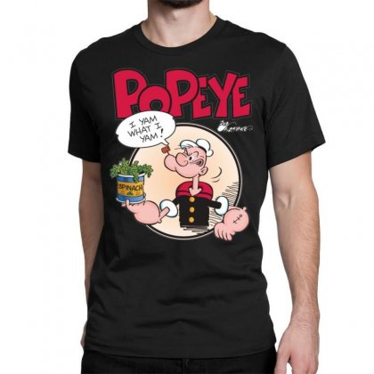 Popeye, Ideal Gift Or Birthday Present Fuuny Classic T-shirt Designed By Nugraha