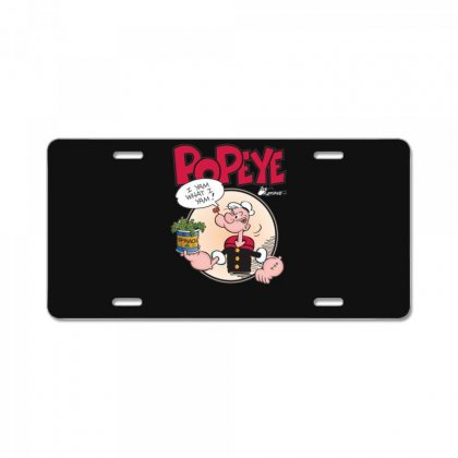 Popeye, Ideal Gift Or Birthday Present Fuuny License Plate Designed By Nugraha