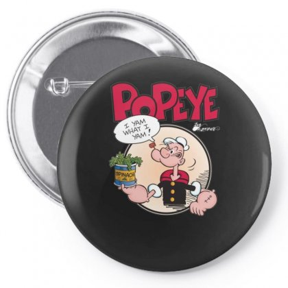 Popeye, Ideal Gift Or Birthday Present Fuuny Pin-back Button Designed By Nugraha