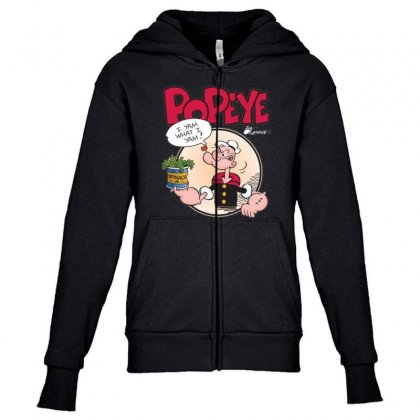 Popeye, Ideal Gift Or Birthday Present Fuuny Youth Zipper Hoodie Designed By Nugraha