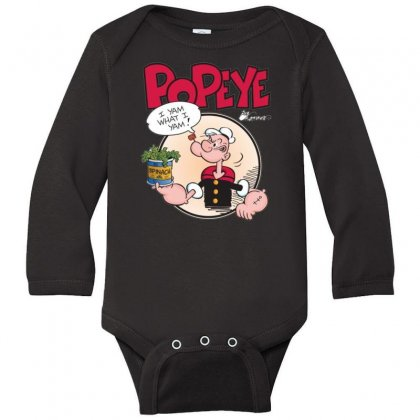 Popeye, Ideal Gift Or Birthday Present Fuuny Long Sleeve Baby Bodysuit Designed By Nugraha