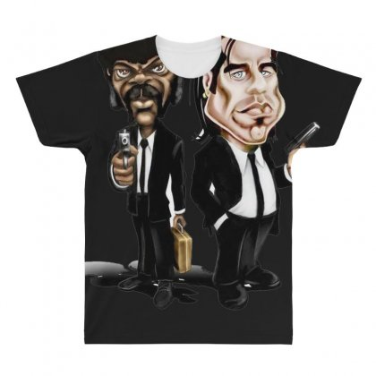 Pulp Fiction Caricature Ideal Birthday Gift Present All Over Men's T-shirt Designed By Nugraha