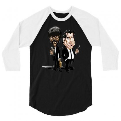 Pulp Fiction Caricature Ideal Birthday Gift Present 3/4 Sleeve Shirt Designed By Nugraha