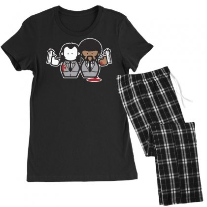 Pulp Fiction Cartoon Ideal Birthday Present Or Gift Women's Pajamas Set Designed By Nugraha