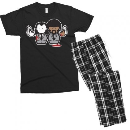 Pulp Fiction Cartoon Ideal Birthday Present Or Gift Men's T-shirt Pajama Set Designed By Nugraha