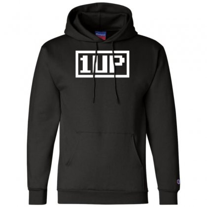 1 Up Funny Video Game Champion Hoodie Designed By Nugraha