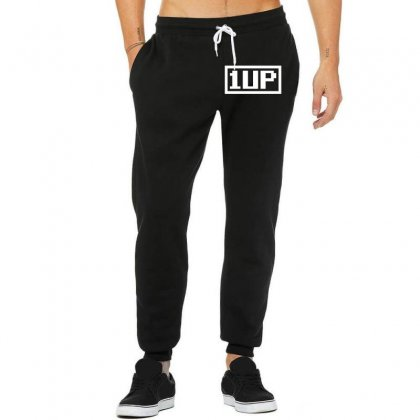1 Up Funny Video Game Unisex Jogger Designed By Nugraha