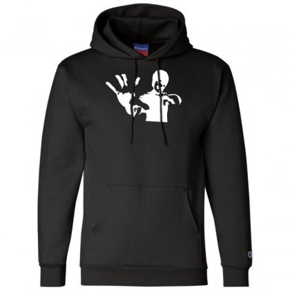 Bruce Lee Stencil Silhouette Champion Hoodie Designed By Nugraha