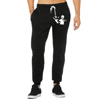 Bruce Lee Stencil Silhouette Unisex Jogger Designed By Nugraha