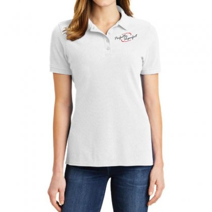 Perfect Imperfect Ladies Polo Shirt Designed By Designisfun